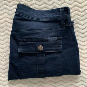 7 For All Mankind Blue Ankle Zip Skinny Pants 29